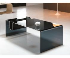 Table basse AURELA - Verre courbé - Noir