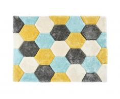 Tapis shaggy effet 3D TOMETTE - polyester - Multicolore - 160*230cm