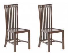 Lot de 2 chaises JAKARTA II - Teck massif