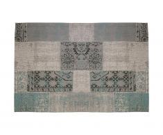Tapis style vintage TURIN - 100% polyester - 200 x 290 cm- Bleu gris