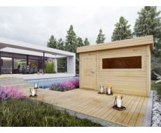 Sauna d'extérieur 4/6 places HERVOR - 2 pièces - L366 x P204 x H210 cm