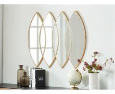Miroir losange art déco ESTELLE - effet laiton - 80 x 100 cm - Doré