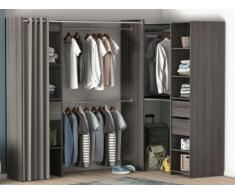 Dressing d'angle extensible KYLIAN - Chocolat et gris