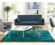 Tapis shaggy effet 3D MAZE - polyester - Vert d'eau - 160*230cm