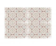 Tapis en vinyle effet carreaux de ciment PALMA - 120 x 180 cm - Multicolore