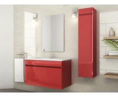 Ensemble KAHI - meubles de salle de bain - Laqué rouge