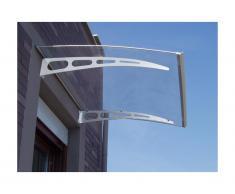 Auvent droit NEONA en aluminium - 120*90*15cm