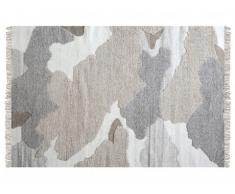 Tapis SIA tissé main en laine effet vachette COUNTRY - 160x230cm - Coloris naturel