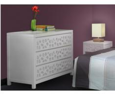SOLDES - Commode 3 tiroirs DOLLY - Bois & MDF - Laqué blanc