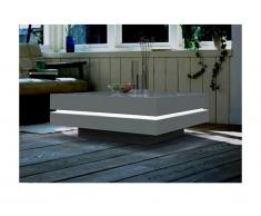 Table basse LYESS - MDF laqué blanc - LEDs