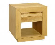 Table de chevet en bois SYMPHONIE - 1 tiroir - Chêne huilé