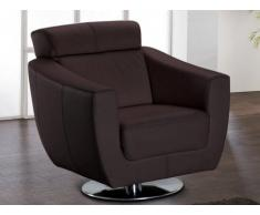 Fauteuil cuir luxe MAGNUM - Chocolat