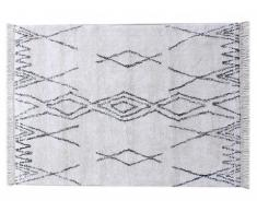 Tapis tufté style berbère en coton MEDINA - 120 x 180 cm - Crème