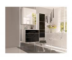Ensemble SOLENE - meubles de salle de bain - Laqué noir