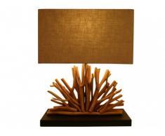 Lampe à poser KOVDOR en bois - H.50 cm