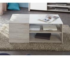 Table basse LAYANA - 3 plateaux - Naturel & blanc