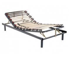 Sommier de relaxation monté sur tenons, 3 plans de couchage, fermeté réglable par curseurs - 80x200cm