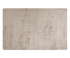 Tapis SIA tissé main en viscose YUMI - 160x230cm - Coloris argile