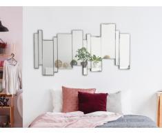 Miroir style moderne design FITZ - 70 x 140 cm - Verre - Argenté