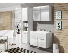 Ensemble NINA à leds - meubles de salle de bain - Laqué blanc