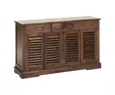Buffet BALI - 4 tiroirs & 4 portes - Teck massif