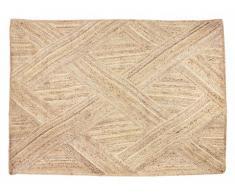 Tapis AKOLA - 100% Jute - 120 x 170 cm - Naturel