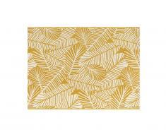 Tapis intérieur ou extérieur motifs feuilles CURITIBA - 200 x 290 cm - Jaune