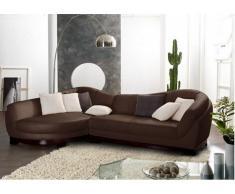Canapé d'angle cuir de buffle 5 places CAPRI II - Chocolat - Angle gauche