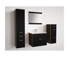 Ensemble NASSA - meubles de salle de bain laqué noir