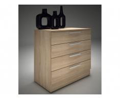 Commode MATHIAS - 4 tiroirs - chêne