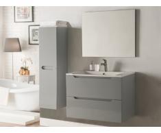 Ensemble STEFANIE - meubles de salle de bain - Laqué gris