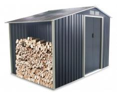SOLDES - Abri de jardin en acier galvanisé gris AGATO - 6,53m²