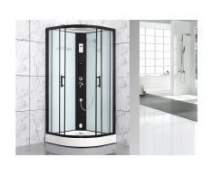 Cabine de douche à leds fonction Hammam SOLTA - L 90 x l 90 x H 215 cm