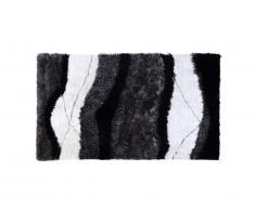 Tapis shaggy ECUME - polyester tufté main - Noir et Blanc - 200*290cm
