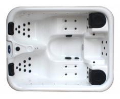 Spa 3 personnes MAUPITI blanc - 37 jets - L198*P161*H72 cm