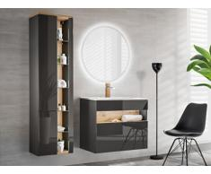 Ensemble LUNA - meubles de salle de bain - gris