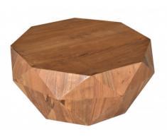 Table basse ENIGMA - Forme Octogonale - Bois de manguier