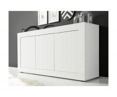 Buffet COMETE - 3 portes - Blanc laqué