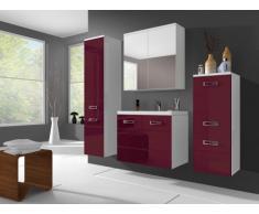 Ensemble CLARENCE - meubles de salle de bain - rouge bordeaux