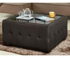 Table basse en tissu RAKEL - Chocolat