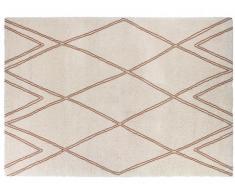 Tapis style berbère ARCADIE - 100% Polypropylène - 120x170cm - Ecru et rouille