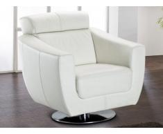 Fauteuil cuir luxe MAGNUM - Blanc
