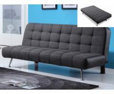 Canapé clic-clac MURNI - Bicolore gris/noir