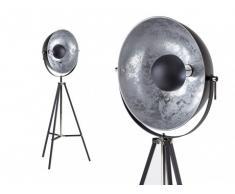 Lampadaire cinéma industriel MOVIE - H. 166 cm - Bicolore intérieur argenté extérieur noir de la marque INSIDE ART