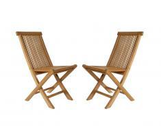 Lot de 2 chaises pliantes BYBLOS - Teck