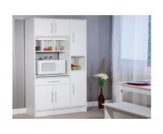 Buffet de cuisine MADY - 5 portes & 1 tiroir - Coloris blanc