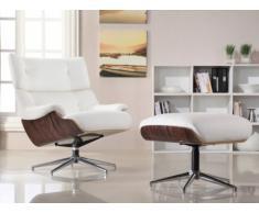 Fauteuil lounge cuir supérieur SOPRANO - blanc