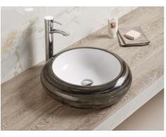 Vasque de salle de bain ATSUKO - noir brillant