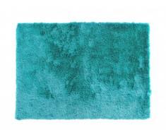 Tapis shaggy soyeux PORTOFINO bleu - polyester - 160*230cm