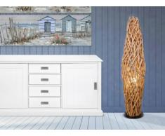 SOLDES - Lampadaire IRATY en bois - H.150 cm - Naturel
